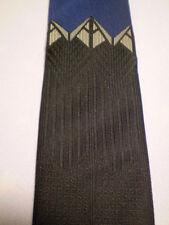 "Expressions Blue Brownish-Blackish Polysilk Tie 53.5"""