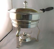 Vintage SHEFFIELD CHAFING DISH, BURNER AND LID - SILVERPLATE