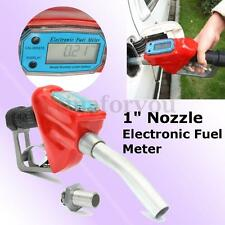 "1"" Fuel Gasoline Diesel Petrol Delivery Flow Meter Nozzle Refill Gun Dispenser"