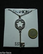 collana chiave catena pendolo uomo donna acciaio chirurgico steel regalo