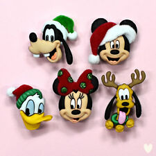 DISNEY Holiday Heads 8236 Dress It Up Buttons - Mickey Mouse Minnie Goofy Donald