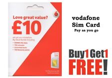 VODAFONE OFFICIAL UK TRIPLE SIM CARD PAY AS YOU GO PAYG STANDARD, MICRO NANO