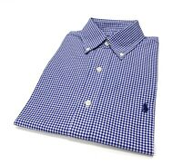 Ralph Lauren Men's Classic Fit Checked Shirt In Blue/White Size S
