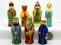 Christmas Tree ORNAMENTS Decoration Russian doll set 7 Nativity Mary Jesus Angel