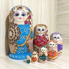 7 UNIDS Hermosa Hecho A Mano de Madera de Rusia Muñecas de Anidación de
