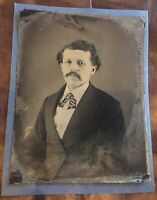Full Plate Albert Einstein Tintype Photographed Very Rare Antique Vintage Photo