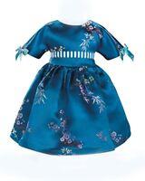 "Doll Clothes 18"" Dress Royal Blue Satin Cherry Blossom Carpatina Fits AG Doll"