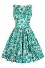 Lady Vintage Tik Tok clocks teal tea dress rockabilly steampunk plus size retro
