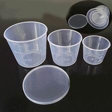 1Set 50/100/200ml Transparent Plastic Fishing Measuring Cup Bait Tackle Boxes