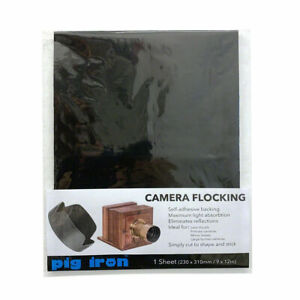 Pig Iron Camera Flocking Sheet Self Adhesive Non-Reflective Lining  Pinhole (UK)