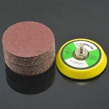 60PC 2Inch Sander Disc Sanding pad Polishing pad + M6X1 Hook&Look Backer Plate