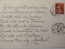 10/ JULES DE MARTHOLD / Poème Autographe  à Albert Montreuil 1909