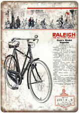 """Raleigh Gents Model Superbe Vintage Bike Ad 10"""" x 7"""" Reproduction Metal Sign B20"""