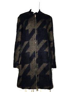 STELLA MCCARTNEY Damen Mantel Doubleface Wool Alpaca Dark blue IT 42 De 38 Neu