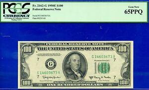 FR-2162-G - 1950-E $100 FRN (( 3rd Finest - Chicago )) PCGS 65PPQ # G14603673A-