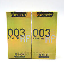 20P Okamoto 003 Zero Zero Three Real Fit Ultra Thin Lubricated Condoms 20P 003RF