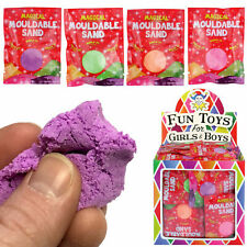 Mouldable Sand Play Toy Party Bag Stocking Fillers Boys Girls Kinetic - 6 PACK