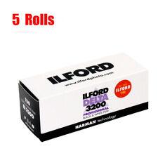 5 Rolls Ilford Delta 3200 120  Black&White Negative Film Fresh 2021