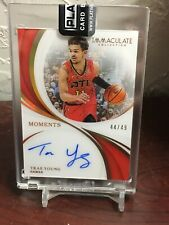 TRAE YOUNG 2018/19 IMMACULATE MOMENTS AUTO RC # /49 ACETATE HAWKS MT/NMT 🔥SALE!