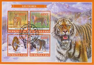 Tiger Burkina Faso Postmarked 2935