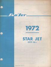 1972 SNO-JET SNOWMOBILE STAR JET HIRTH 292cc MODELS PARTS MANUAL (693)
