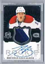 2013-14 THE CUP JERSEY AUTOGRAPH BRENDAN GALLAGHER ROOKIE AUTO JERSEY 3 COLORS
