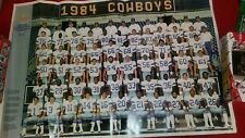 1984 McDonalds Salutes Dallas Cowboys Silver Anniversary Football Poster 35x23