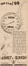 Y8633 Moto MONET & GOYON Superstandard - Pubblicità d'epoca - 1932 Old advert