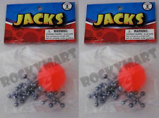 (Two) Jacks & Ball Pick up Sets Classic Children Game (16 jacks 2 balls) RM1692