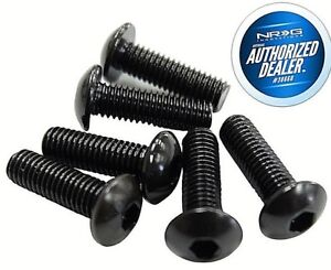 NEW NRG Upgrade Steering Wheel Screw Kit 6 piece BLACK + ALLEN KEY SWS-100BK