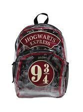 Harry Potter Clear 9 3/4 Hogwarts Express Backpack School Book Bag NWT