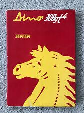 Original 1976 Ferrari Dino 308GT4 Owners manual Instruction Book