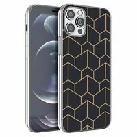 For iPhone 12 & 12 Pro Silicone Case Geometric Abstract - S6130