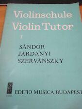Violinschule Violin Tutor 1 Sandor Jardanyszervanszky Book 1949 Vintage