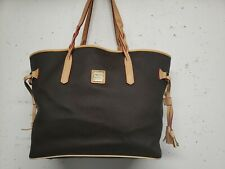 DOONEY & BOURKE BAILEY EVA BROWN LEATHER FLORENTINE TOTE LEISURE CARRY ALL BAG