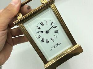 Fantastic Antique Vintage J.W.BENSON Brass Cased Mechanical Carriage Clock