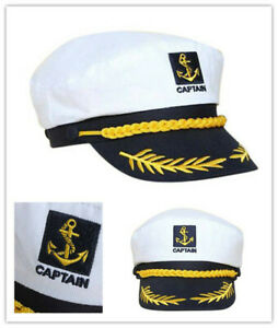Adjustable Navy Marine Yacht Boat Ship Sailor Captain Fancy Costume Hat CapAPUO