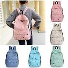 Women Girls Canvas School Bookbags #S Cartoon Print Backpack Travel Shoulder Bag