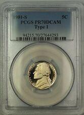 1981-S Type 1 Proof Jefferson Nickel 5c Coin PCGS PR-70 Deep Cameo *PERFECT GEM*