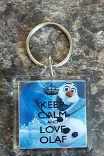 Frozen - Keep calm love Olaf Keyring Double Sided