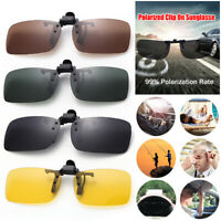 Day Night Vision Clip On Sunglasses Polarized Flip-up Lens Driving Glasses