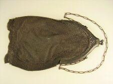 Antike Seltene Damenhandtasche Theatertasche Versilbert um 1900