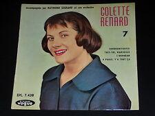 45 tours EP - COLETTE RENARD - CROQUEMITOUFLE - 1957 - DEDICACE