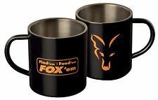 Fox acier inoxydable noir Tasse - XL 400ml
