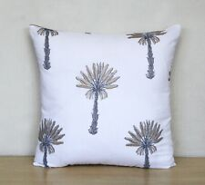 """Indian Silver Gold Palm Tree Hand Block Decorative 16""""Cushion Cover Pillow Cover"""