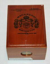 VTG MACANUDO Cabinet Selection 2006 Robusto Cigar Box 4 Rings & Tray Ships FREE!