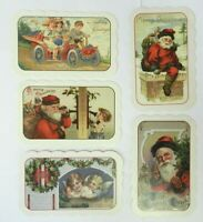 Set of 5 Vintage Reproduction Postcards Christmas Birthday Die Cut AnnaLynn
