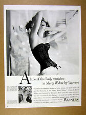 1957 Warner's Merry Widow Corselet black lingerie woman photo vintage print Ad