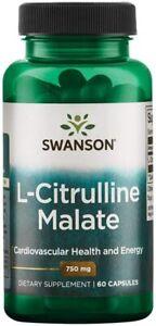 L Citrulline Malate Complex Capsules 750mg Energy Booster Swanson