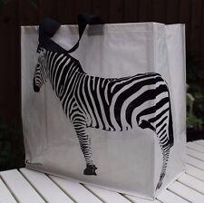 Borsa Shopping O Spiaggia, molto resistenti, molto leggero, molto attraente, Zebra-Bianco